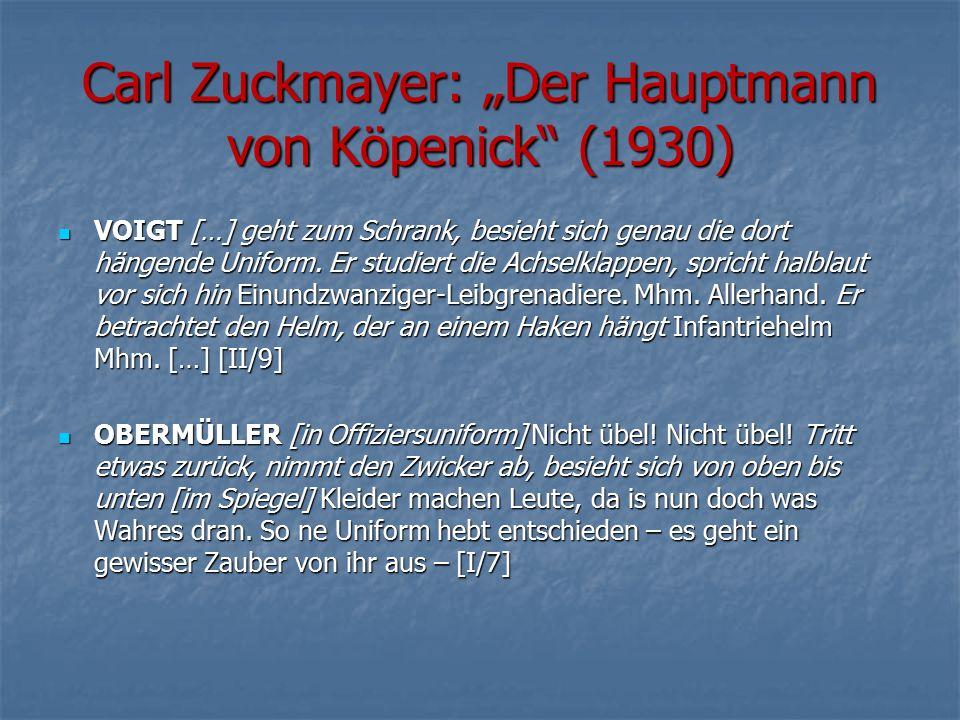 """Carl Zuckmayer: """"Der Hauptmann von Köpenick (1930)"""