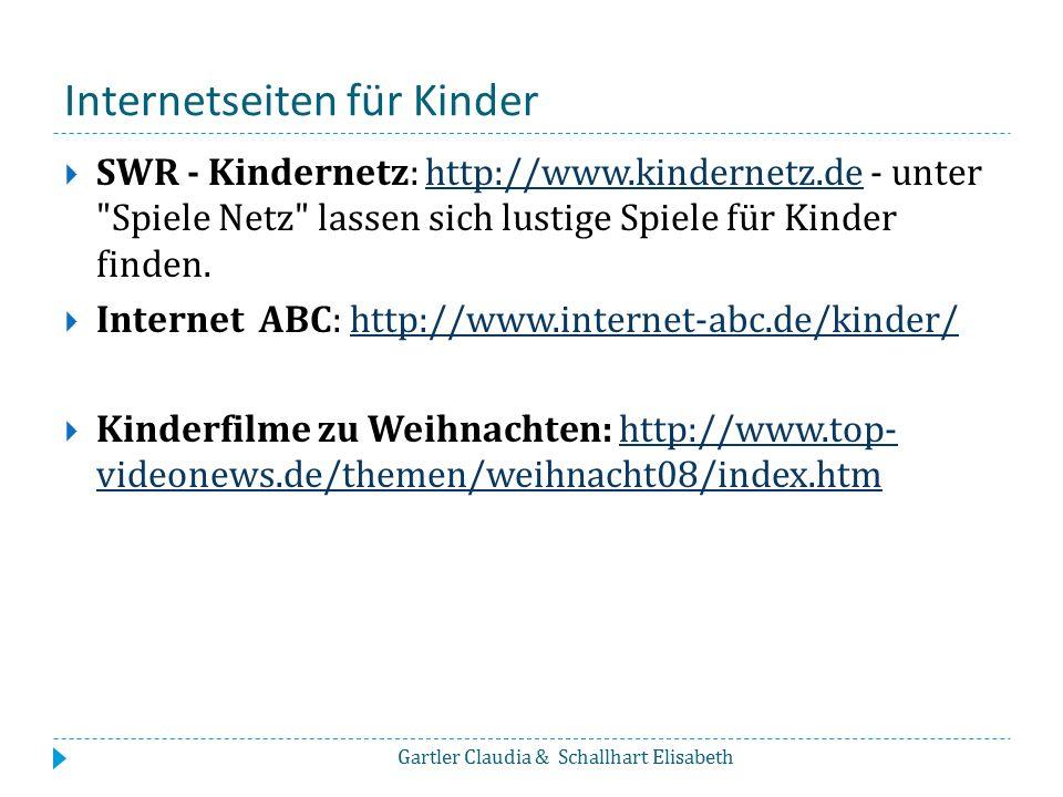 Internetseiten für Kinder