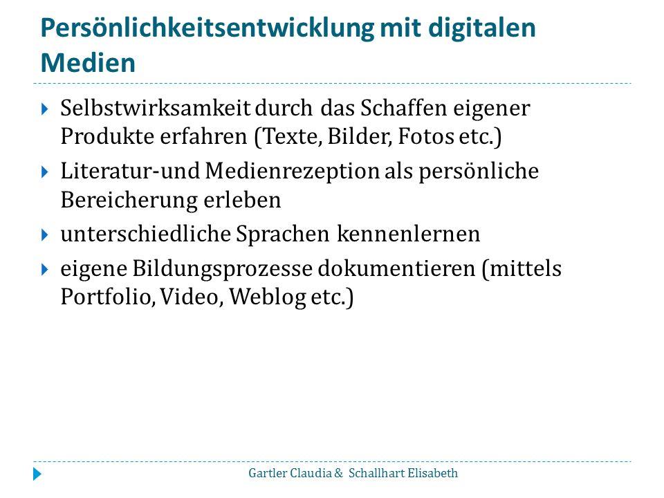 Persönlichkeitsentwicklung mit digitalen Medien
