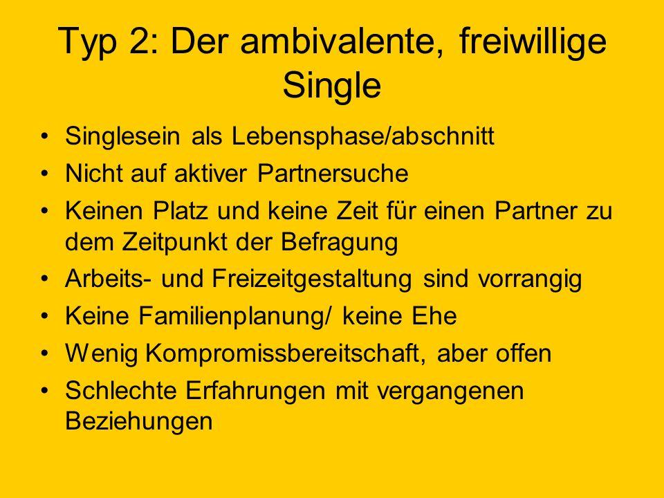 Typ 2: Der ambivalente, freiwillige Single