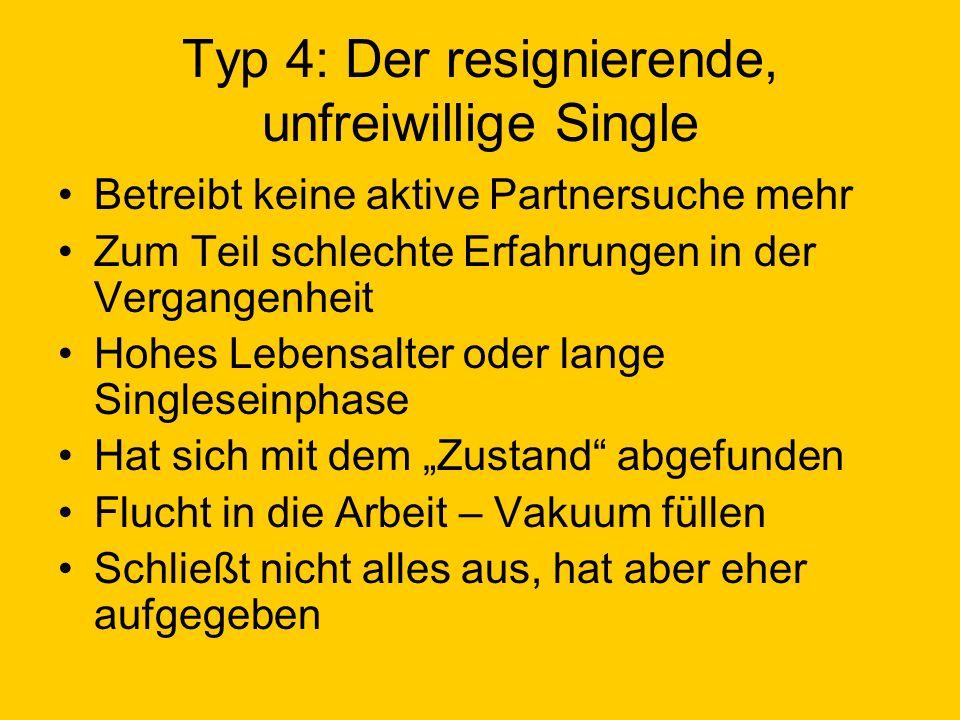 Typ 4: Der resignierende, unfreiwillige Single