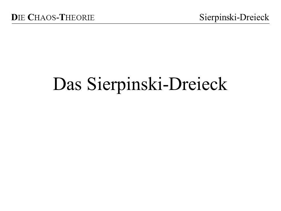 Das Sierpinski-Dreieck