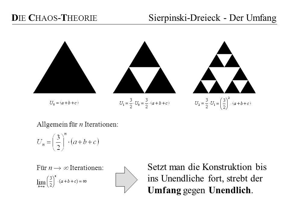 Sierpinski-Dreieck - Der Umfang