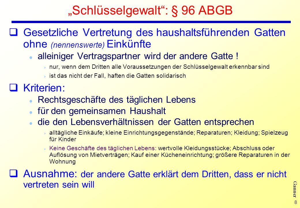"""Schlüsselgewalt : § 96 ABGB"