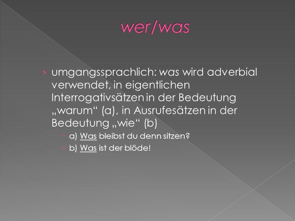 wer/was