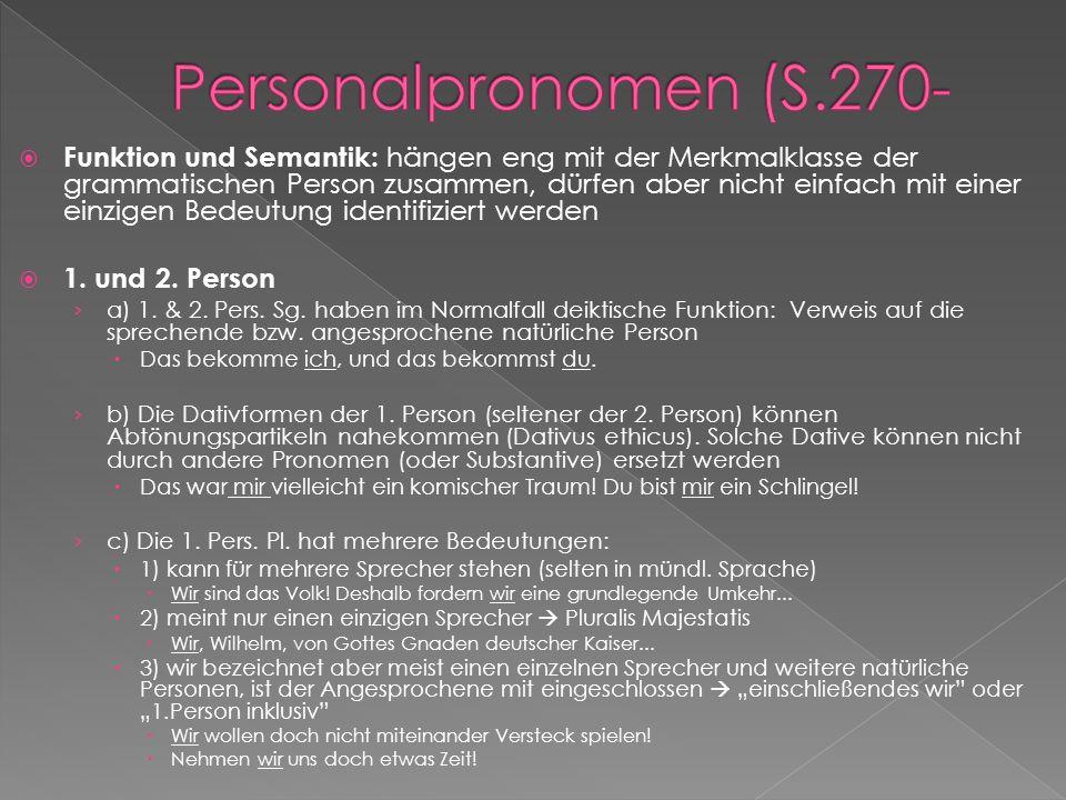 Personalpronomen (S.270-
