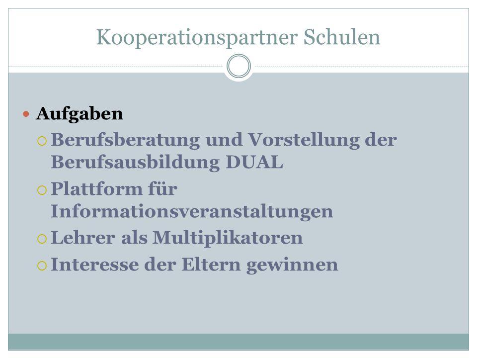 Kooperationspartner Schulen