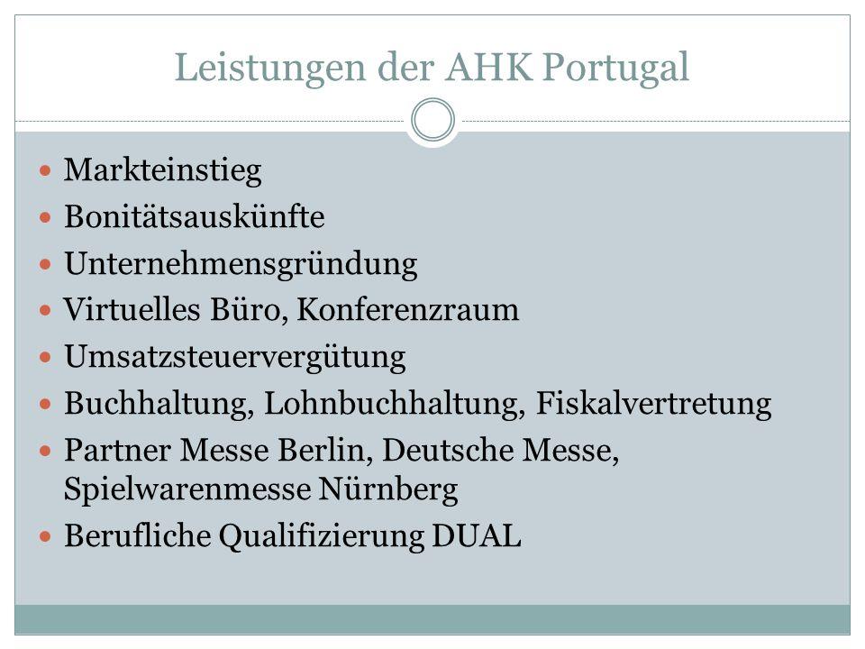 Leistungen der AHK Portugal