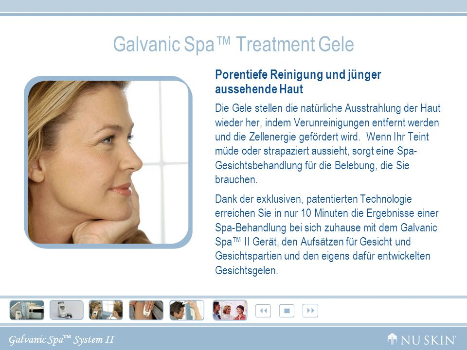 Galvanic Spa™ Treatment Gele