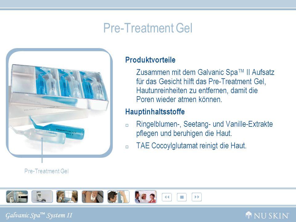 Pre-Treatment Gel Produktvorteile Hauptinhaltsstoffe