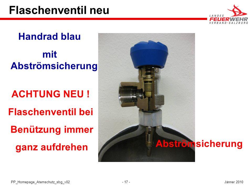 Flaschenventil neu Handrad blau mit Abströmsicherung ACHTUNG NEU !