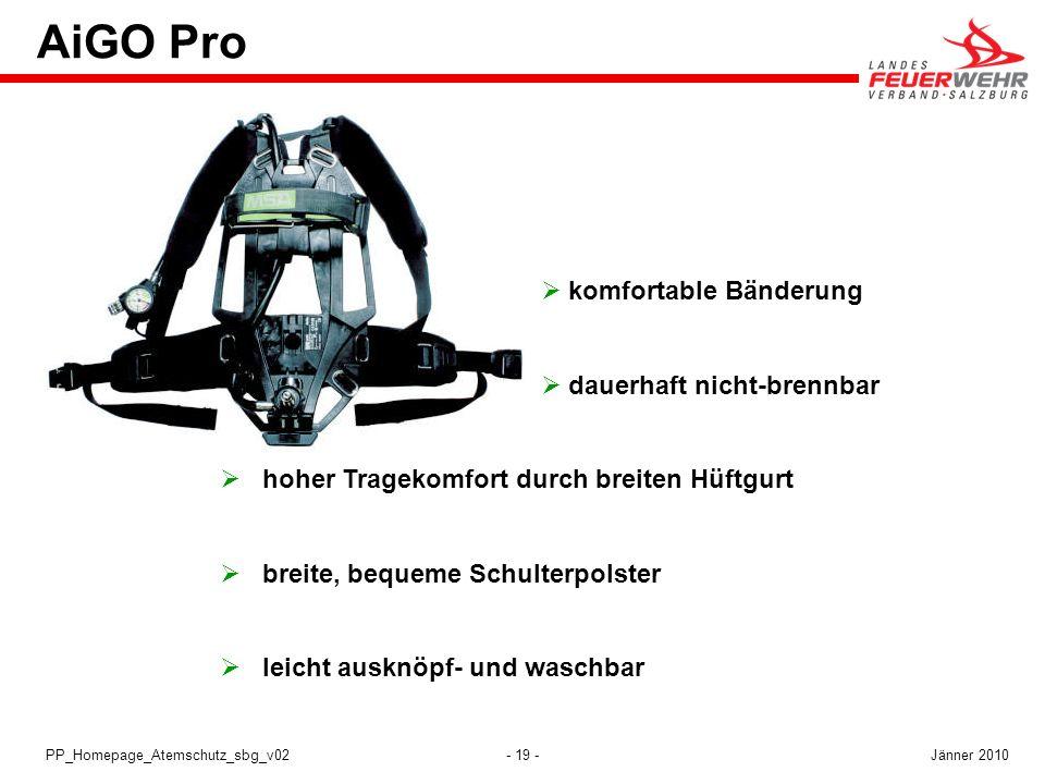 AiGO Pro komfortable Bänderung dauerhaft nicht-brennbar