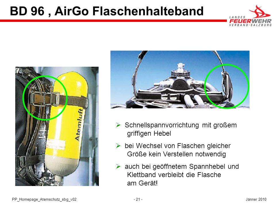 BD 96 , AirGo Flaschenhalteband