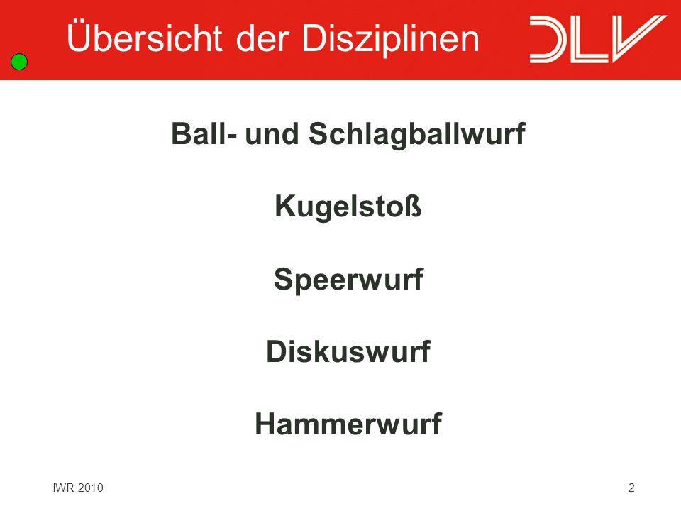 Ball- und Schlagballwurf