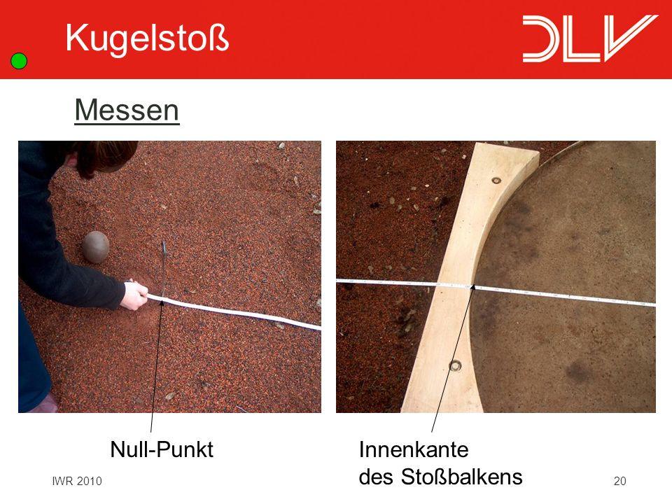 Kugelstoß Messen Null-Punkt Innenkante des Stoßbalkens
