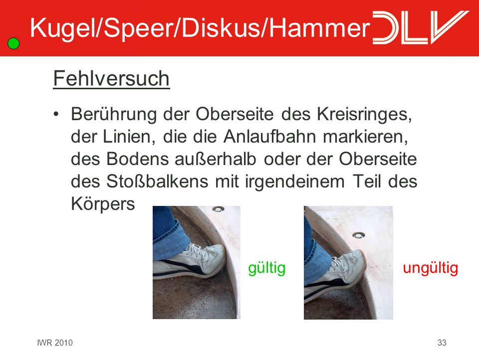 Kugel/Speer/Diskus/Hammer