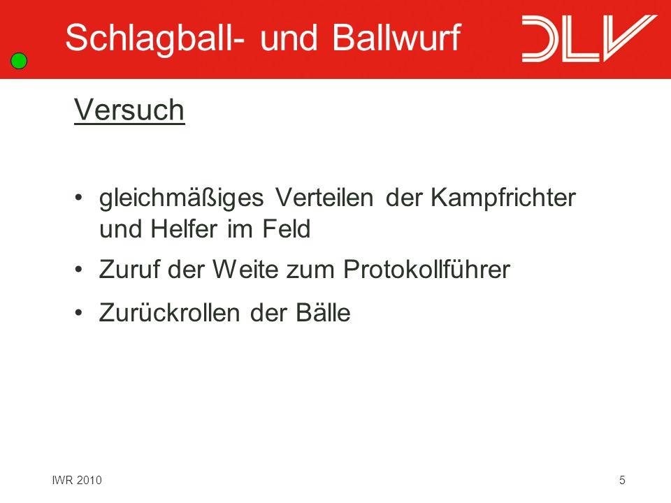 Schlagball- und Ballwurf