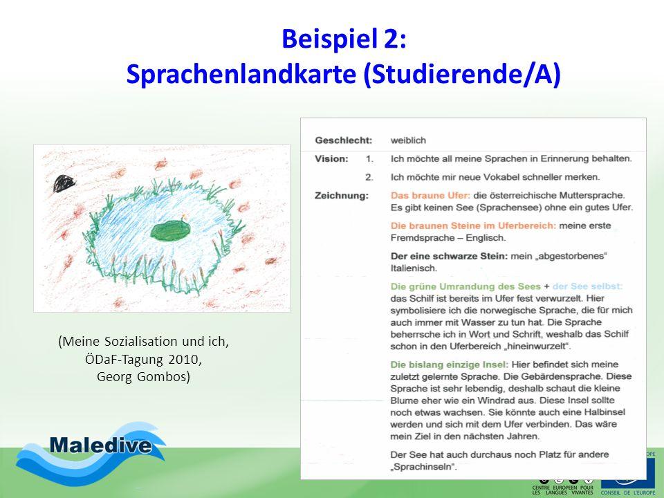 Beispiel 2: Sprachenlandkarte (Studierende/A)