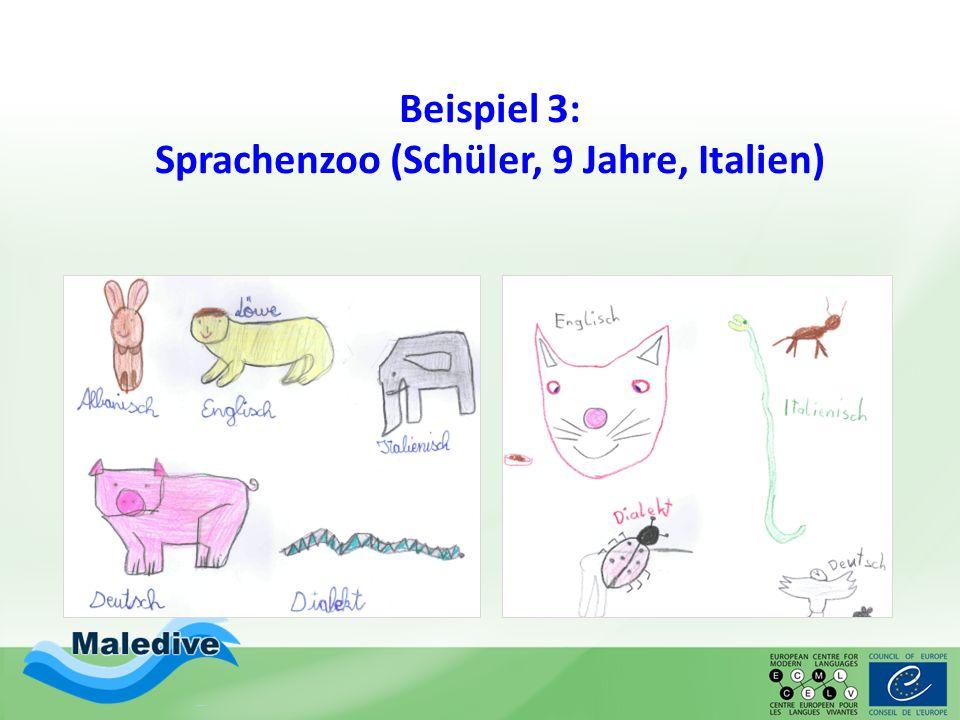 Beispiel 3: Sprachenzoo (Schüler, 9 Jahre, Italien)