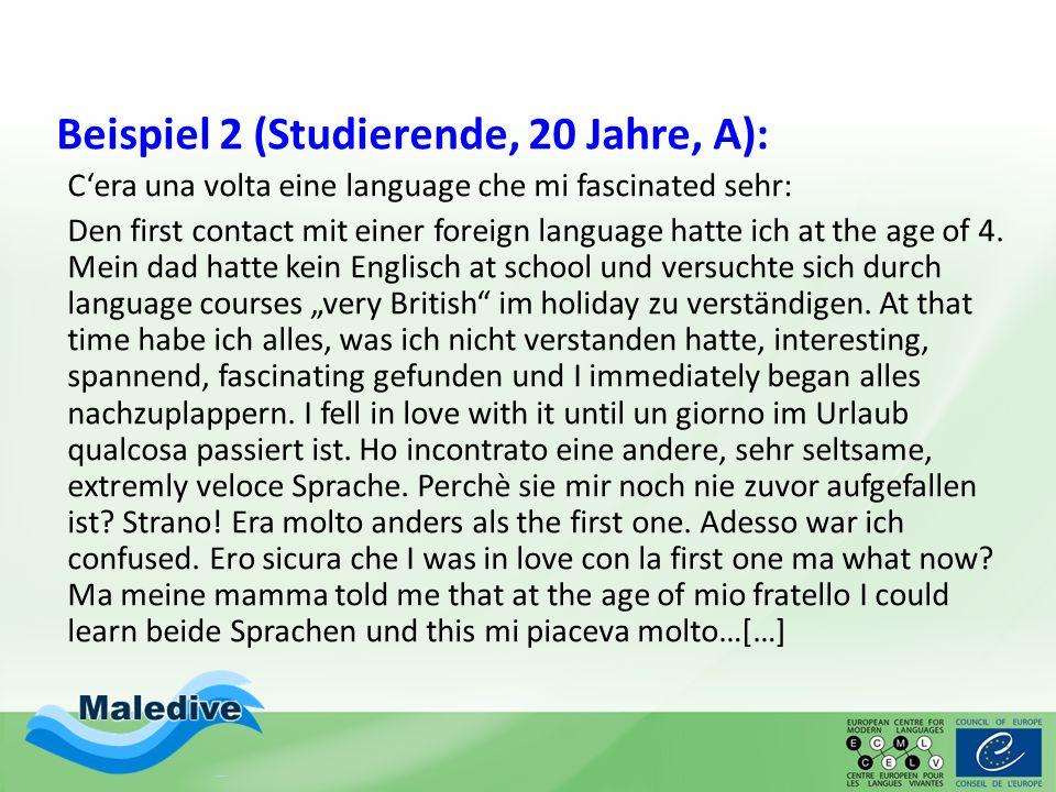 Beispiel 2 (Studierende, 20 Jahre, A):