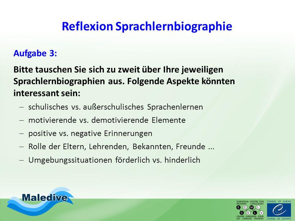 Reflexion Sprachlernbiographie