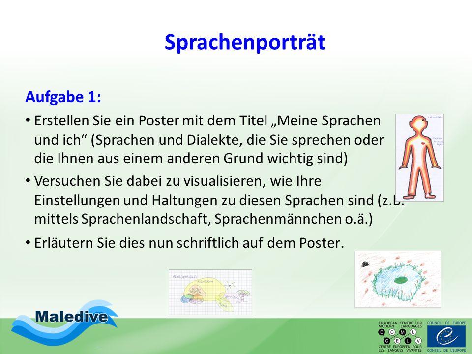 Sprachenporträt Aufgabe 1:
