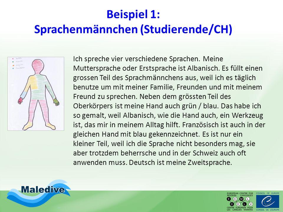 Beispiel 1: Sprachenmännchen (Studierende/CH)