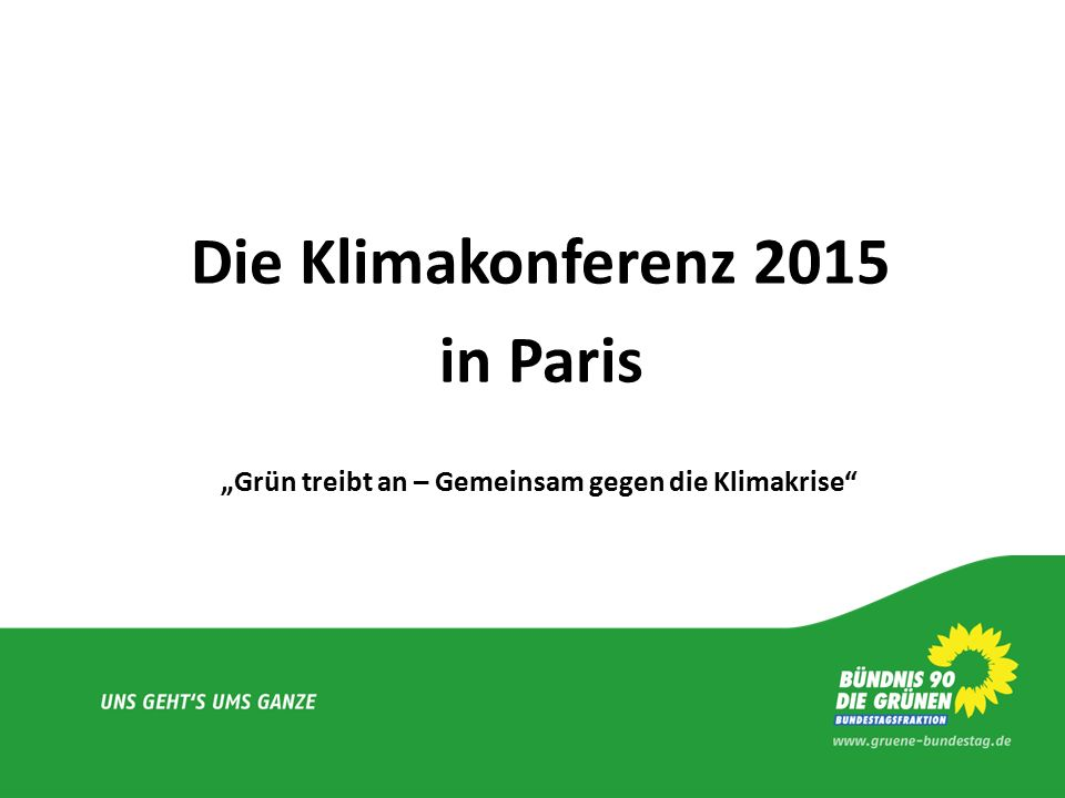 Die Klimakonferenz 2015 in Paris