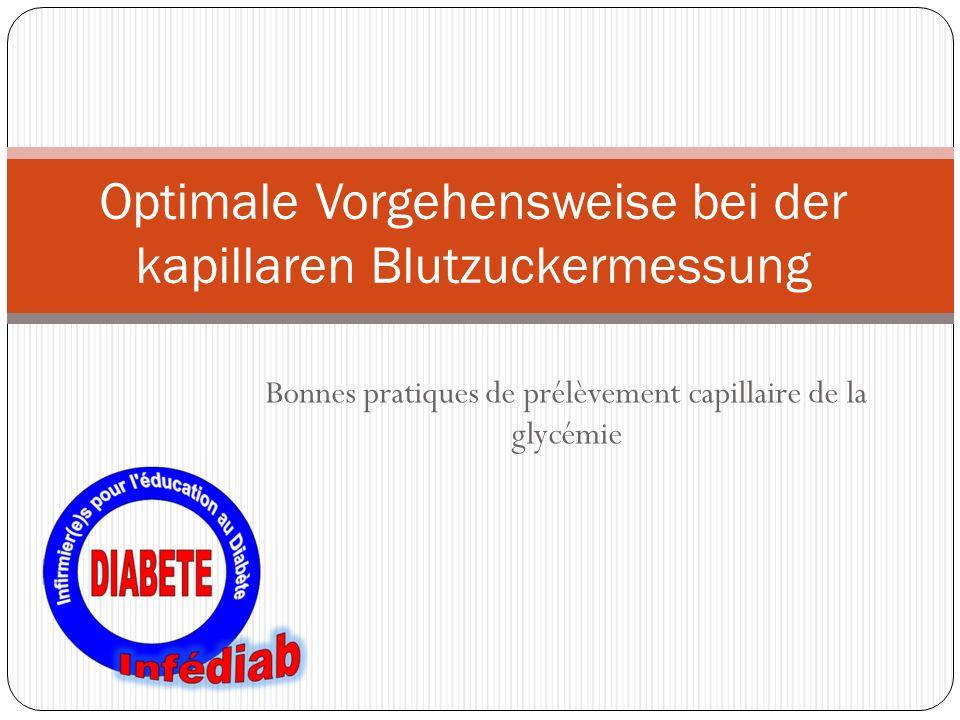 Optimale Vorgehensweise bei der kapillaren Blutzuckermessung