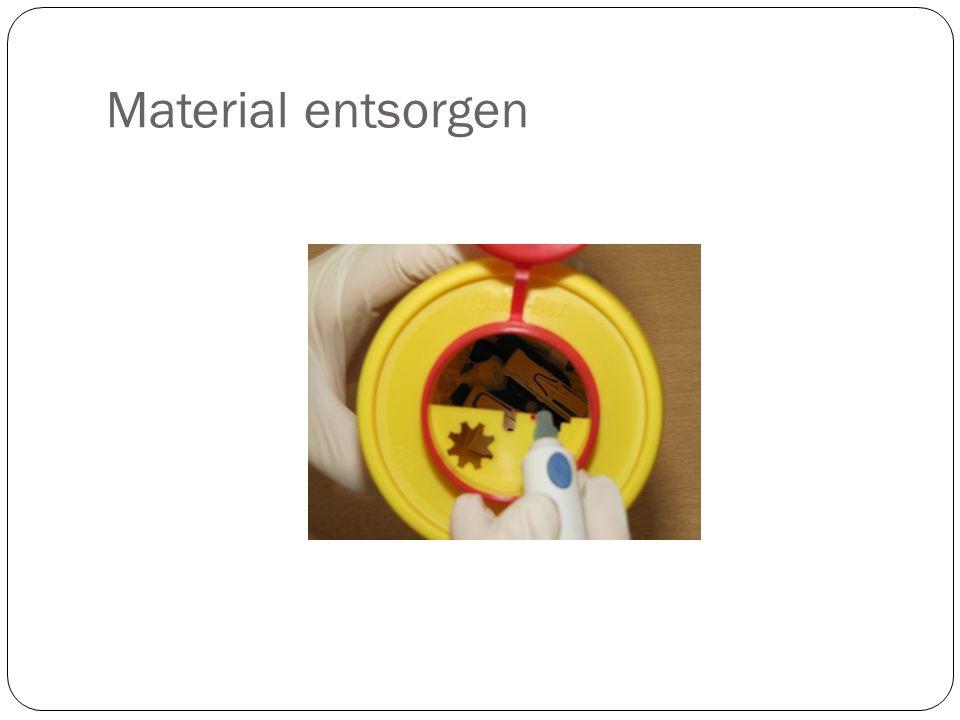 Material entsorgen Les containers jaunes sont distribués gratuitement et repris par les pharmacies et « superdreckskecht »