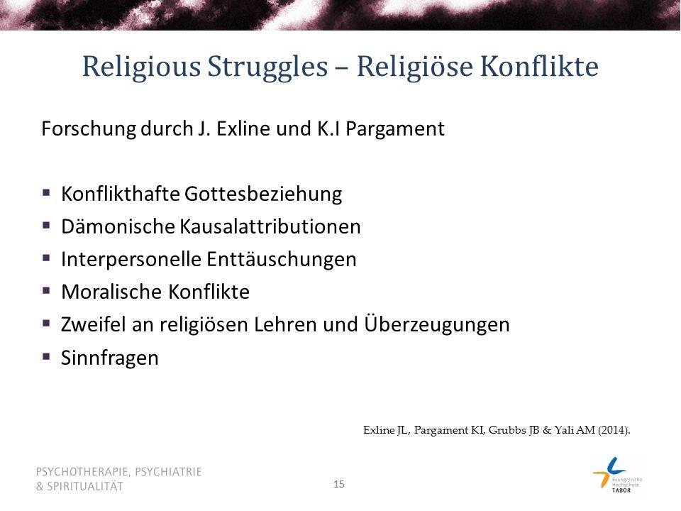 Religious Struggles – Religiöse Konflikte