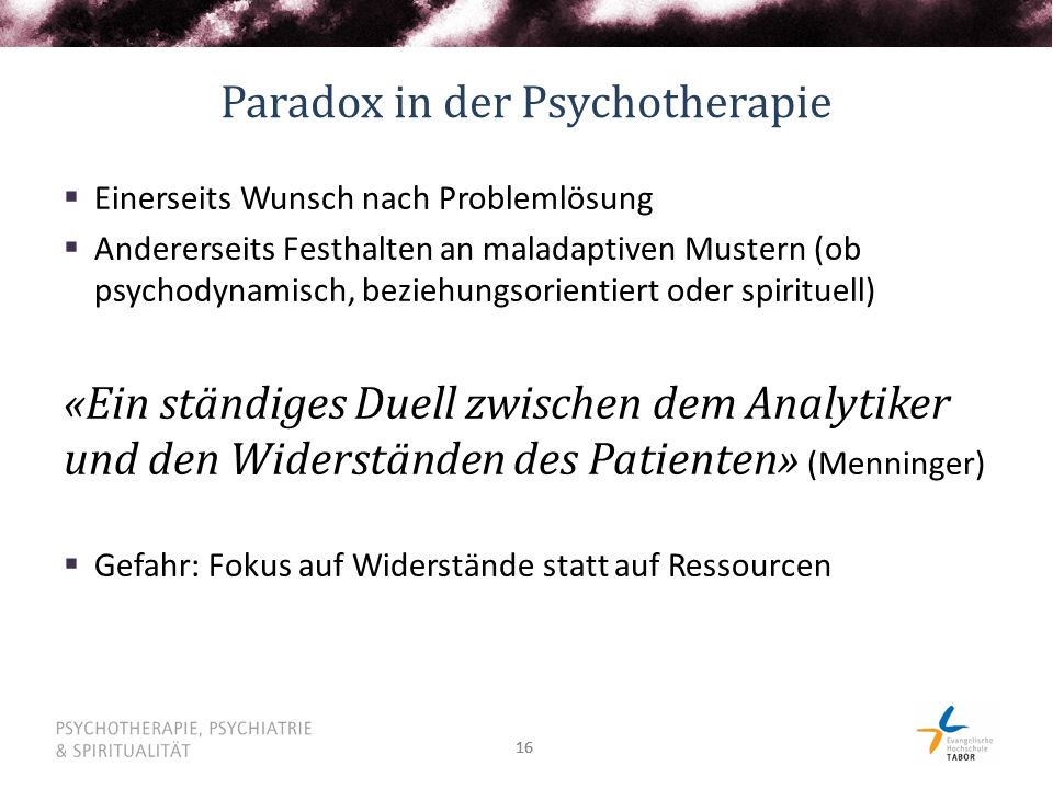 Paradox in der Psychotherapie