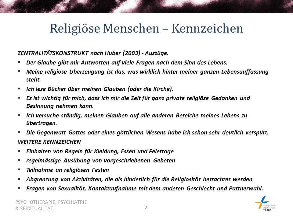 Religiöse Menschen – Kennzeichen