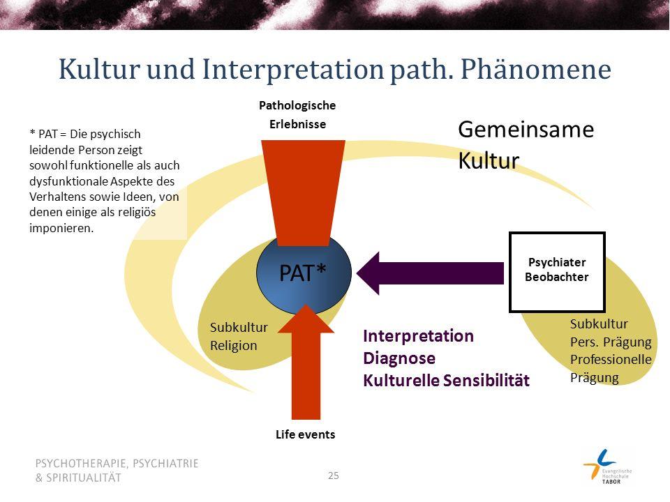 Kultur und Interpretation path. Phänomene