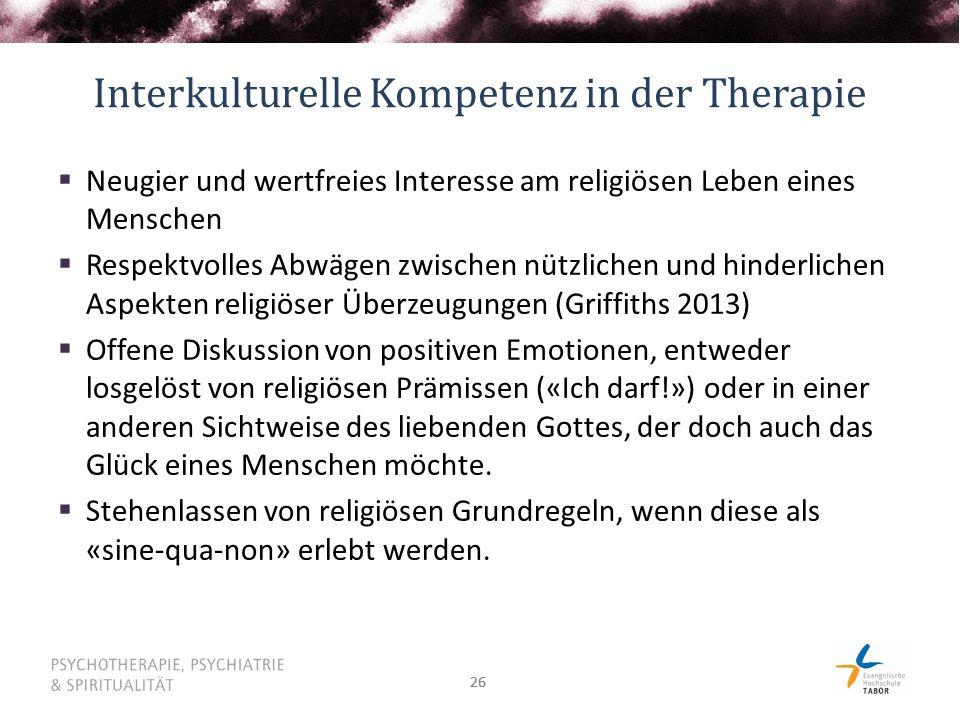 Interkulturelle Kompetenz in der Therapie