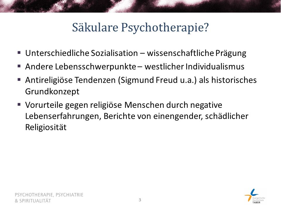Säkulare Psychotherapie