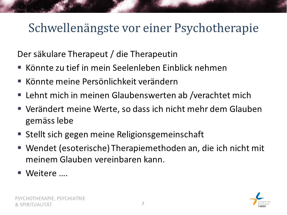 Schwellenängste vor einer Psychotherapie
