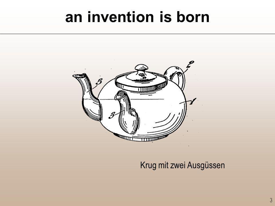 an invention is born Krug mit zwei Ausgüssen