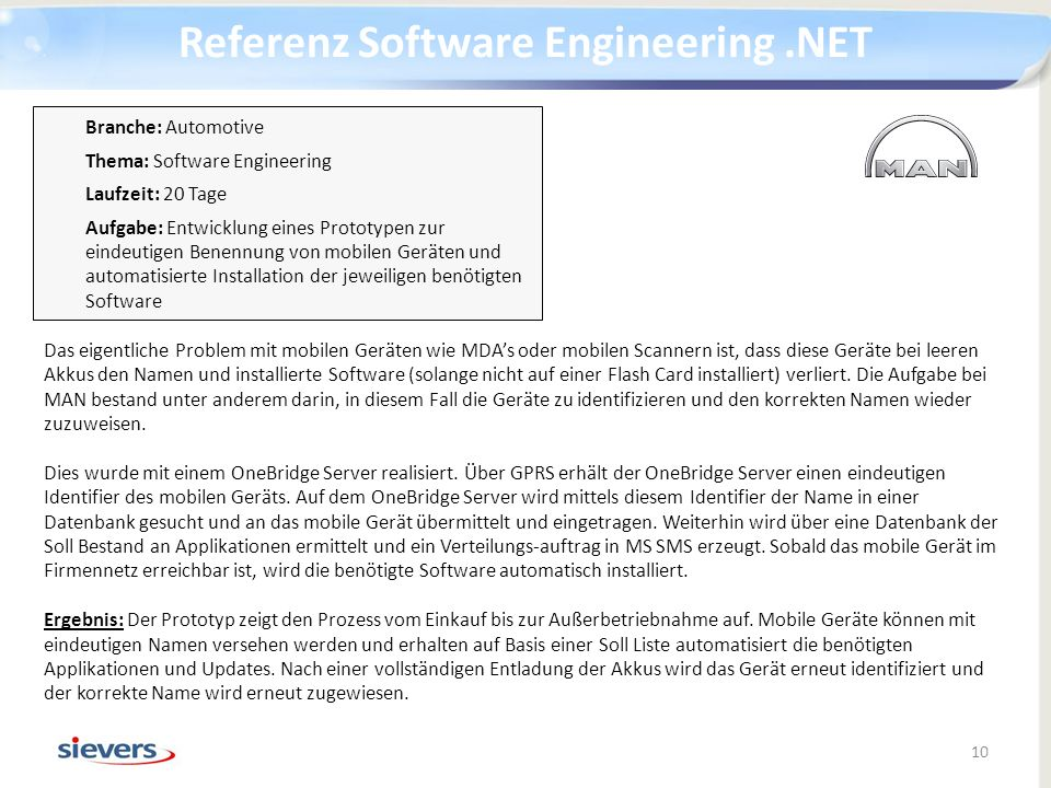 Referenz Software Engineering .NET