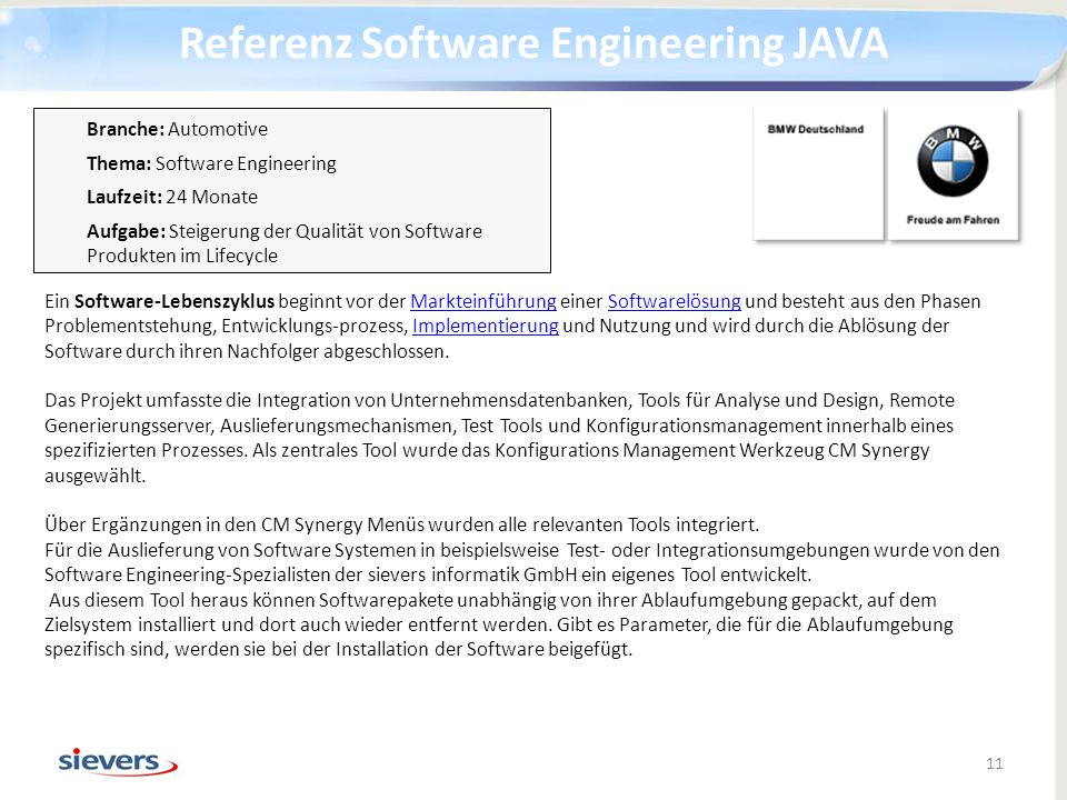 Referenz Software Engineering JAVA