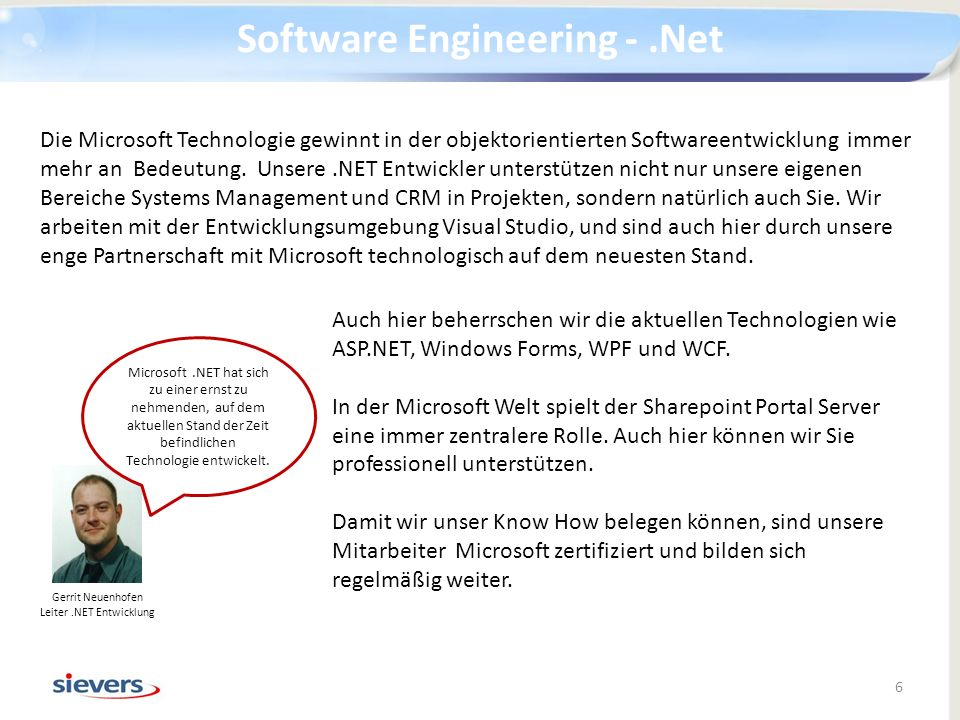 Software Engineering - .Net