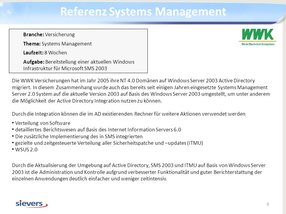 Referenz Systems Management