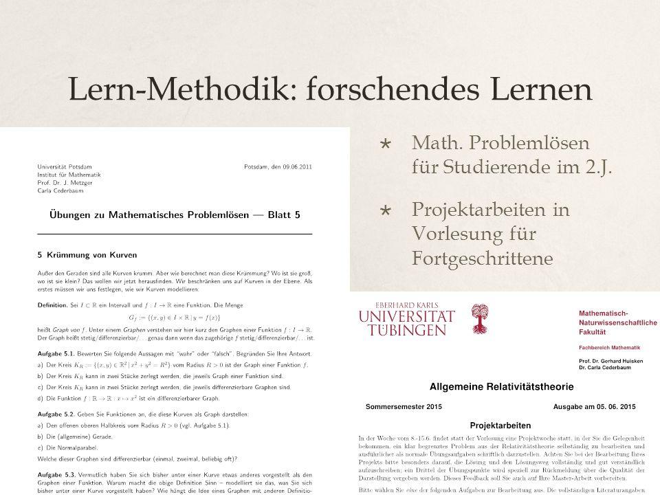 Lern-Methodik: forschendes Lernen