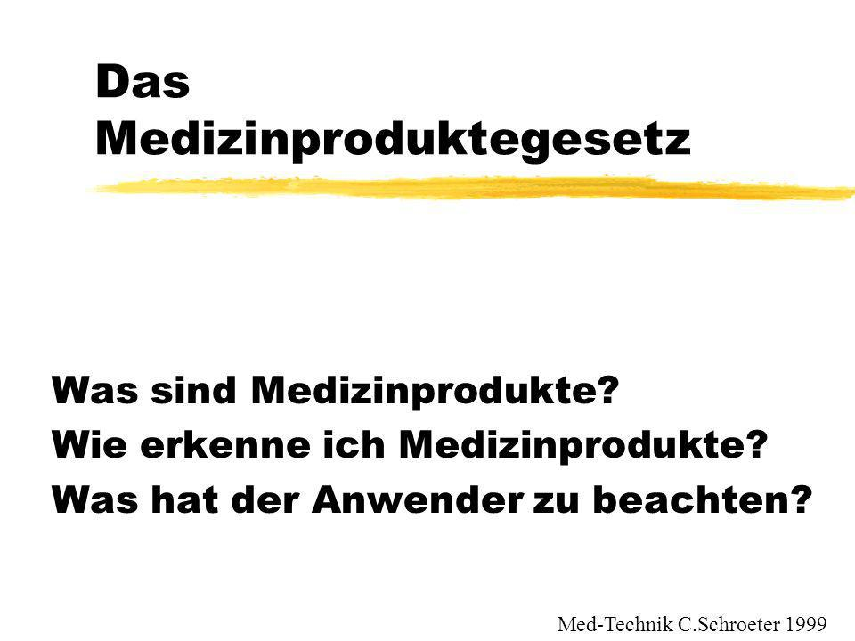 Das Medizinproduktegesetz