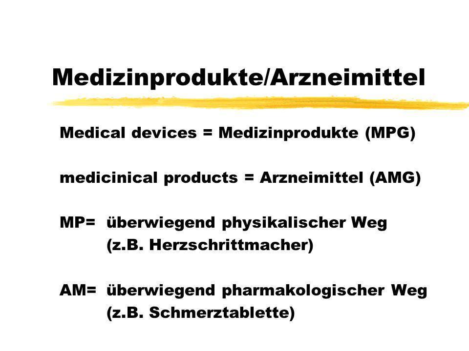 Medizinprodukte/Arzneimittel