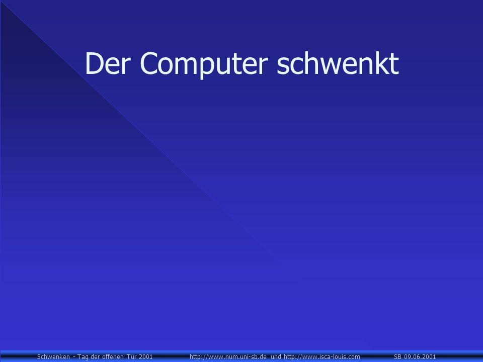 Der Computer schwenkt
