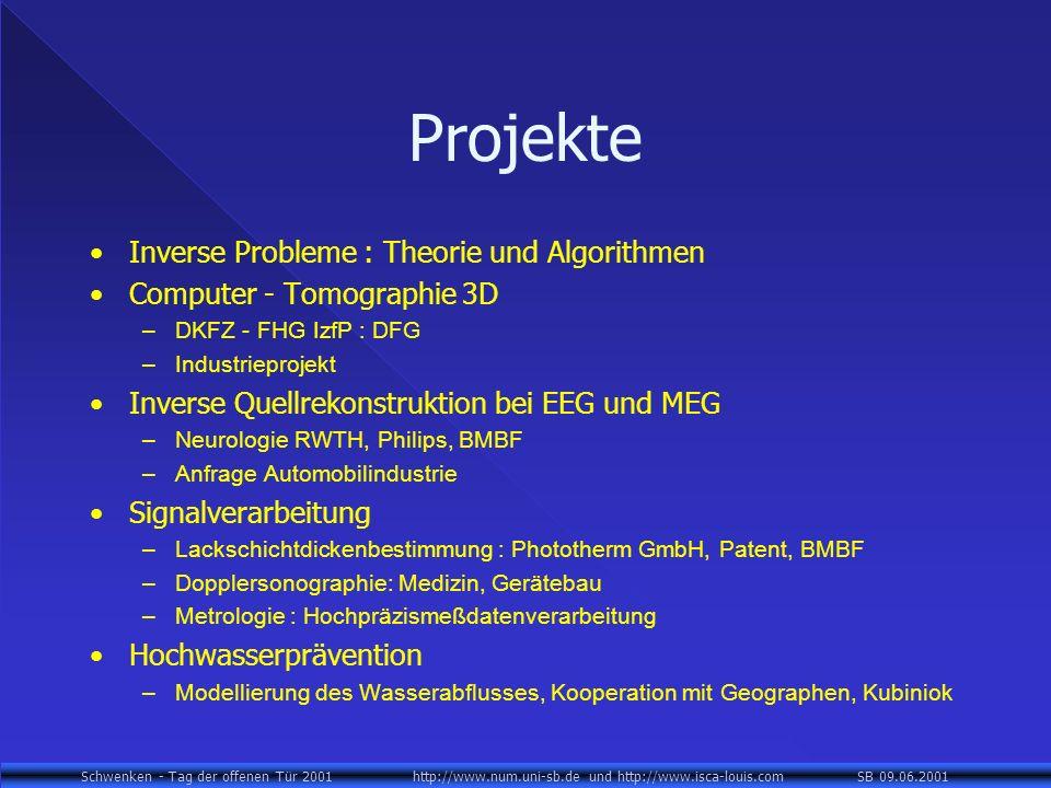Projekte Inverse Probleme : Theorie und Algorithmen
