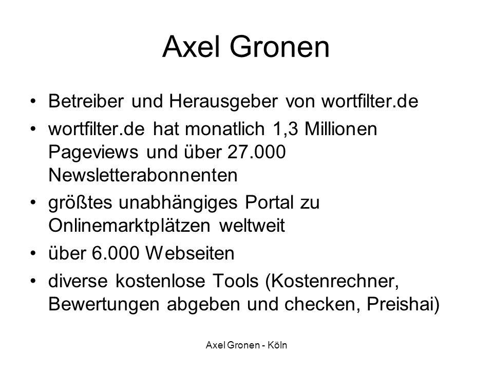 Axel Gronen Betreiber und Herausgeber von wortfilter.de
