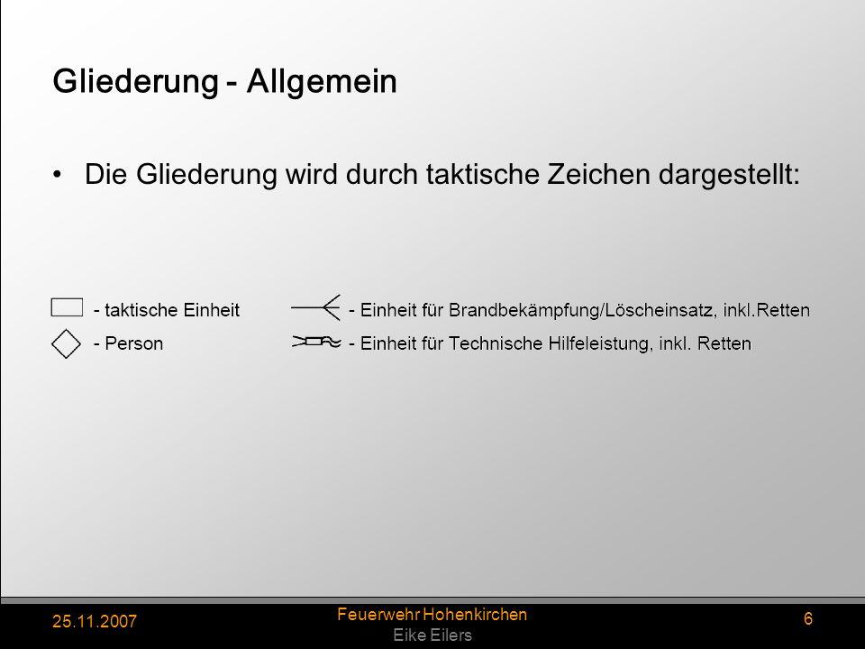 Gliederung - Allgemein