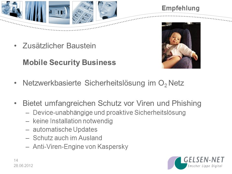 Zusätzlicher Baustein Mobile Security Business